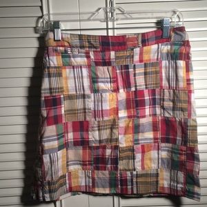Skirt 6, Larry Levine Short Patchwork Cotton Find